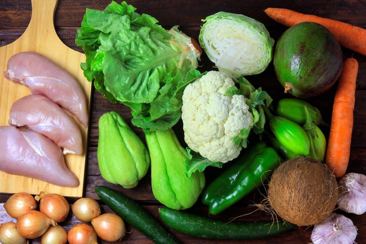 Dieet koolhydraatarme voedingsmiddelen